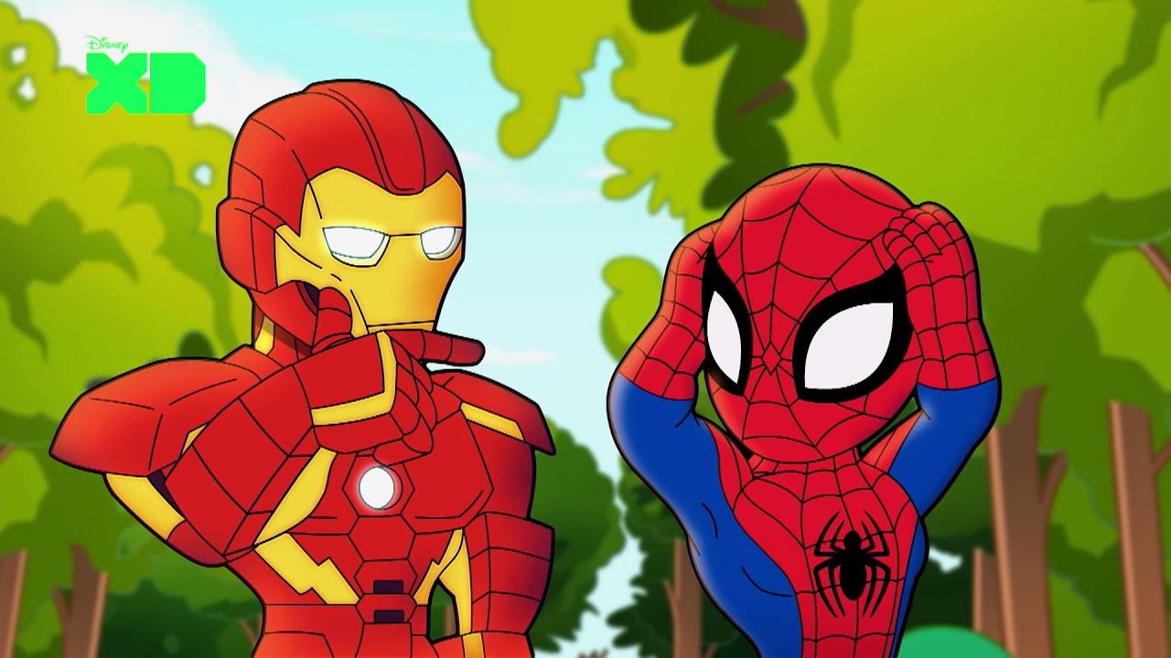 Homem de Ferro e Homem-Aranha (Marvel / Disney)