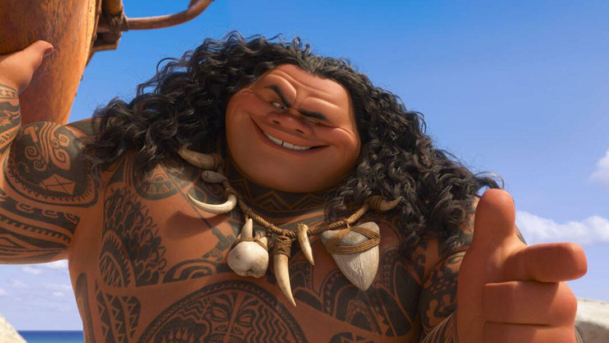 Maui do filme Moana (Reprodução / Disney)