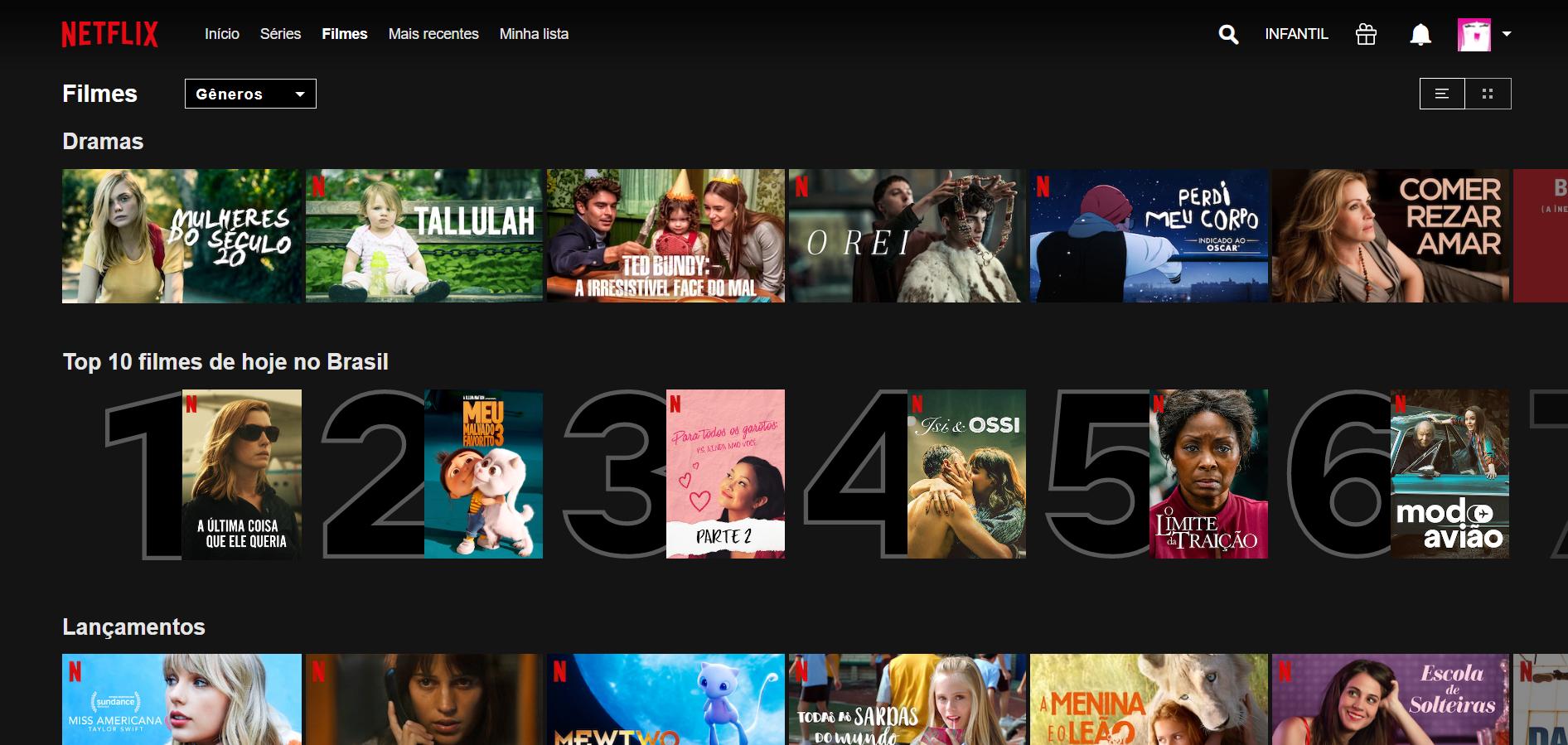 Top 10 Netflix Filme